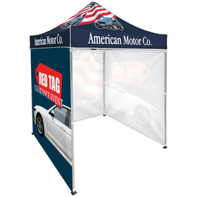 6.5' square canopy tent with 3 full single sided walls