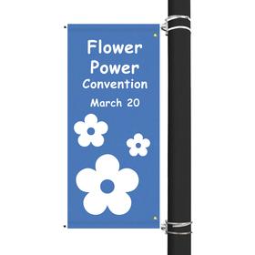 "54"" x 22"" custom sunbrella™ avenue banner-1 color imprint"