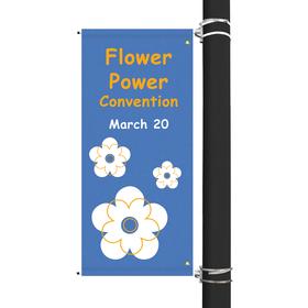 "54"" x 22"" custom sunbrella™ avenue banner-2 color imprint"