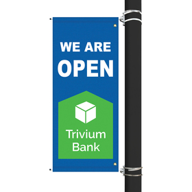 "54"" x 22"" Custom Sunbrella™ Avenue Banner-2 Color Imprint"