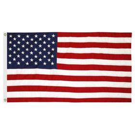 5' x 9.5' u.s. cotton flag w/ heading & grommets