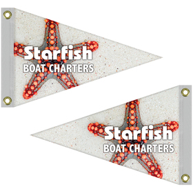 """12"""" x 18"""" double sided knit polyester pennant"""