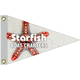 "12"" x 18"" Single Reverse Knit Polyester Pennant"