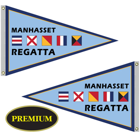 2.5' x 4' double sided knit polyester pennant