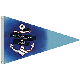 2.5' x 4' Single Reverse Knit Polyester Pennant