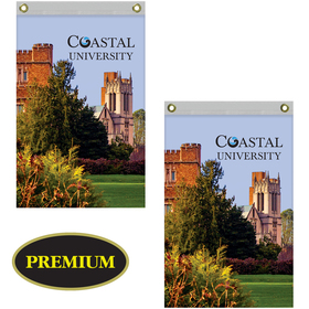 2' x 3' Double Sided Knitted Polyester Vertical Banners
