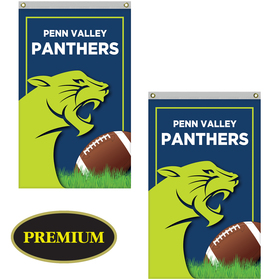 2.5' x 4' Double Sided Knitted Polyester Vertical Banner