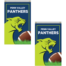 2.5' x 4' Standard Double Sided Knitted Polyester Vertical Banners