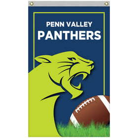 2.5' x 4' standard single reverse knitted polyester vertical banners