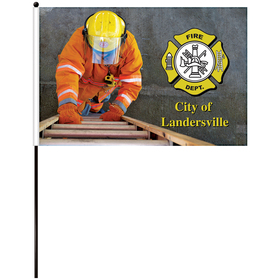 """16"""" x 24"""" single reverse polyester stick flags"""