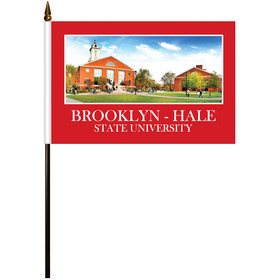 "6"" x 9"" Single Reverse Polyester Stick Flags"