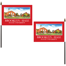 "6"" x 9"" Double Sided Polyester Stick Flags"