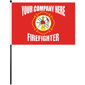 "12"" x 18"" firefighter stick flag"