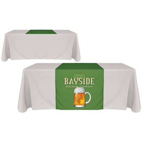 "30"" x 60"" digitally printed table runners"