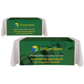 "60"" x 90"" digitally printed table runners"