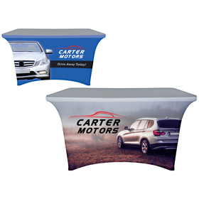 4' digitally printed stretch table covers