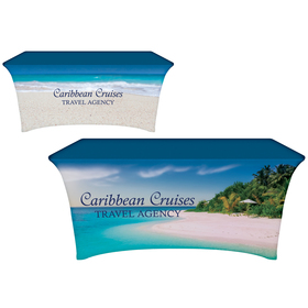 6' Digitally Printed Stretch Table Covers