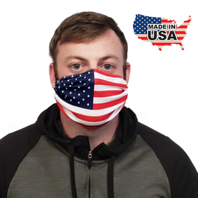 Flag Pattern Microfiber Face Cover