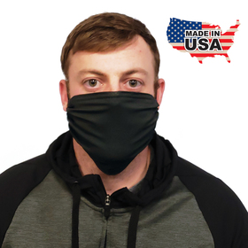 premium black fabric face mask
