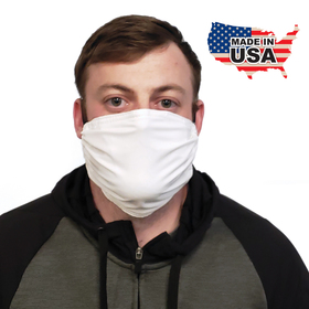premium white fabric face mask