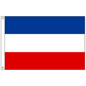 yugoslavia 2' x 3' outdoor nylon flag with heading and grommets