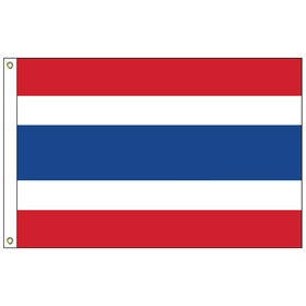 thailand 5' x 8' outdoor nylon flag w/ heading & grommets