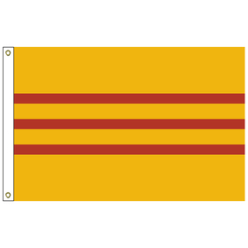 south vietnam 5' x 8' outdoor nylon flag with heading and grommets