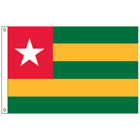 togo 2' x 3' outdoor nylon flag with heading and grommets