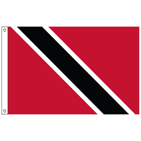 trinidad & tobago 2' x 3' outdoor nylon flag with heading and grommets