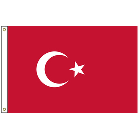 turkey 2' x 3' outdoor nylon flag with heading and grommets