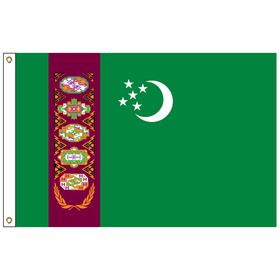 turkmenistan 2' x 3' outdoor nylon flag w/ heading & grommets