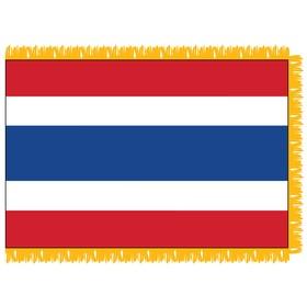 thailand 4' x 6' indoor nylon flag w/ pole sleeve & fringe