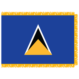 st. lucia 4' x 6' indoor flag with pole sleeve and fringe