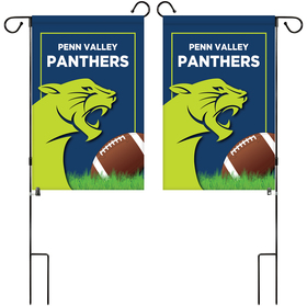 """14"""" x 20"""" custom double sided garden banner with hardware"""