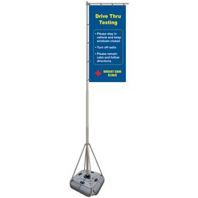 8' Giant Flagpole Kit