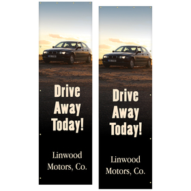13' Giant Flagpole Replacement Banner Double Sided