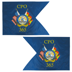 "20"" x 27.75"" custom double sided military guidon flag"