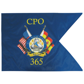 "20"" x 27.75"" custom single reverse military guidon flag"
