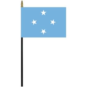"micronesia 4"" x 6"" staff mounted rayon flag"