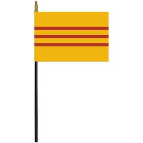 "south vietnam 4"" x 6"" staff mounted rayon flag"