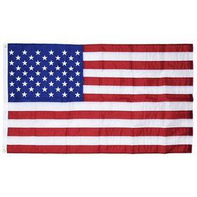 2.5' x 4' u.s. outdoor nylon flag with heading and grommets