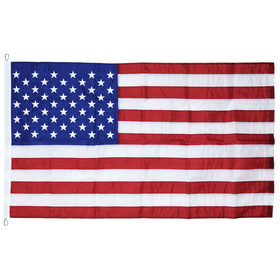 10' x 15' U.S. Nylon Flag with Rope and Thimble