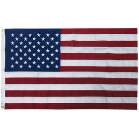 5' x 9.5' 2-ply polyester u.s. flag with heading and grommet
