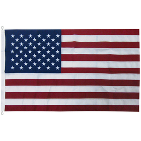 10' x 19' 2-ply polyester u.s. flag with rope and thimble