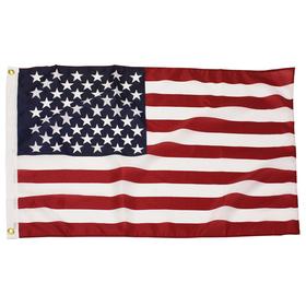 2' x 3' american flag 68 denier printed polyester