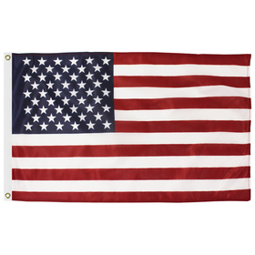 2' x 3' american flag printed knitted polyester