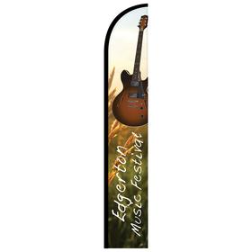 12' digitally printed single reverse half drop banner