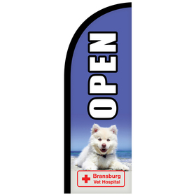 6' Digitally Printed Single Reverse Half Drop Banner