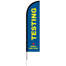 8' Single Reverse Portable Half Drop Banner w/ Hardware Set