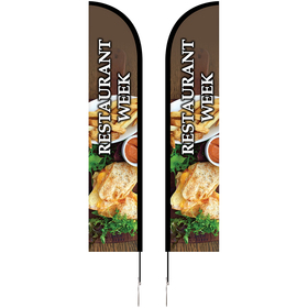 10' Double Sided Portable Half Drop Banner w/ Hardware Set